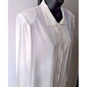Alexandria Tops - Alexandria Long Rhinestone Stone Button Shirt